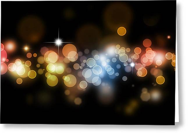 Celebrate Digital Art Greeting Cards - Abstract background Greeting Card by Les Cunliffe