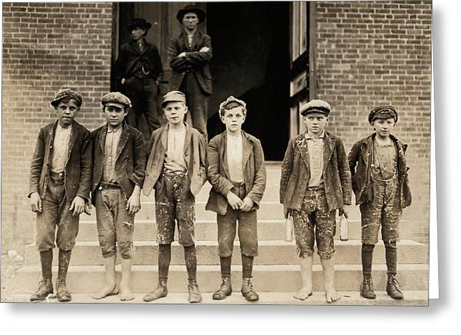 Hine Child Labor, 1908 Greeting Card by Granger