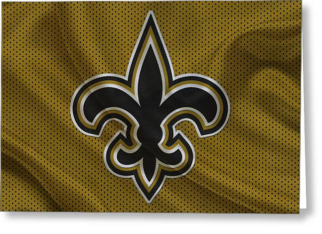 Team Greeting Cards - New Orleans Saints Greeting Card by Joe Hamilton