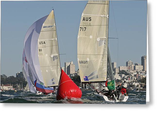 San Francisco Bay Greeting Cards - Rolex Big Boat Series Greeting Card by Steven Lapkin