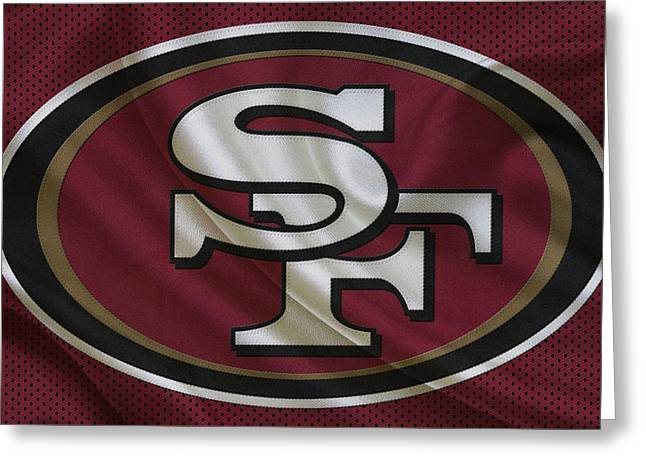 Offense Greeting Cards - San Francisco 49ers Greeting Card by Joe Hamilton