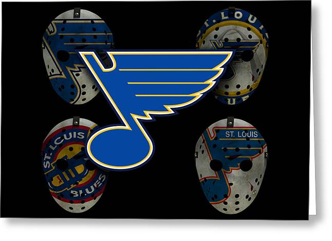 Goalie Greeting Cards - St Louis Blues Greeting Card by Joe Hamilton