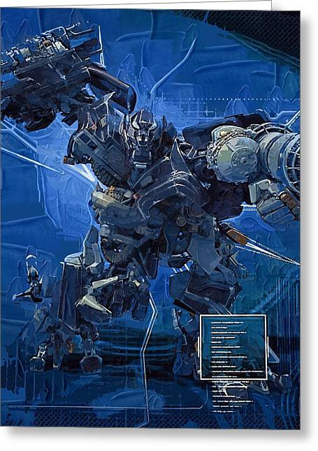 Transformer Greeting Cards - Transformers Film Greeting Card by Victor Gladkiy