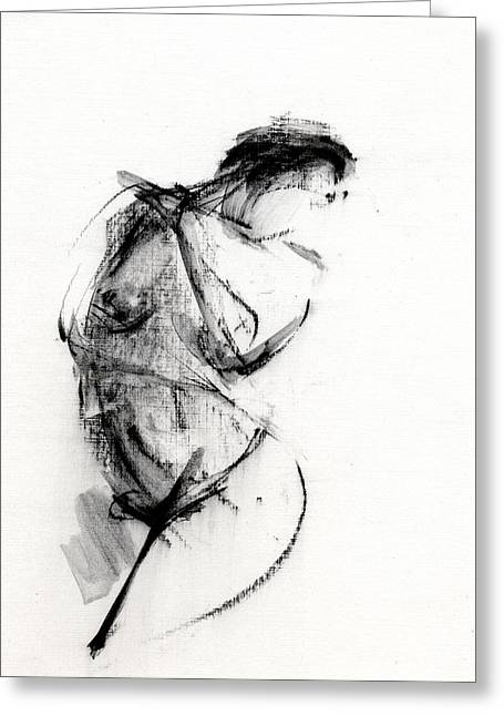 Nude Drawings Greeting Cards - RCNpaintings.com Greeting Card by Chris N Rohrbach