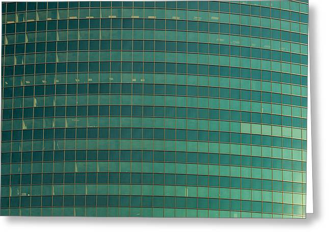 Glass Facade Greeting Cards - 333 W Wacker Building Chicago Greeting Card by Steve Gadomski