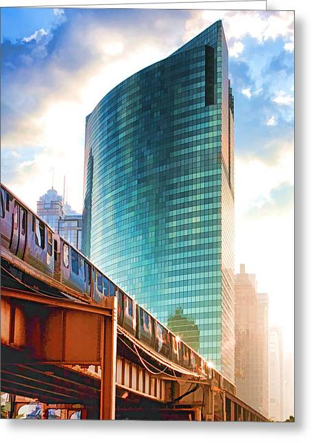 Wacker Drive Greeting Cards - 333 W Wacker Drive Greeting Card by Christopher Arndt