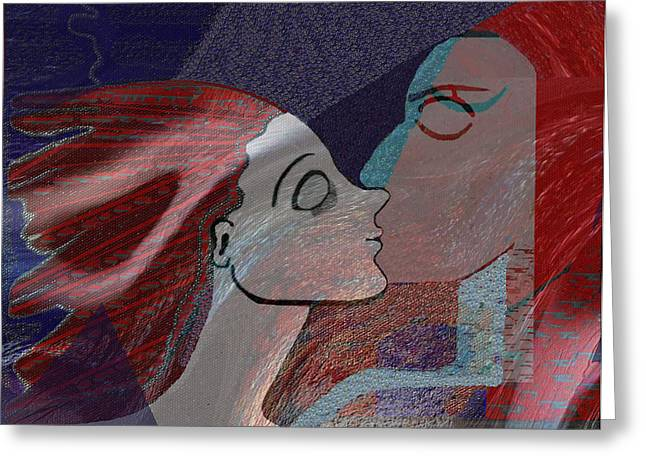 A Kiss Greeting Cards - 337 - Kiss from mother earth   Greeting Card by Irmgard Schoendorf Welch