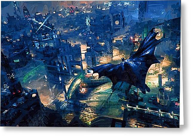 Batman Greeting Cards - Batman Arkham Greeting Card by Victor Gladkiy