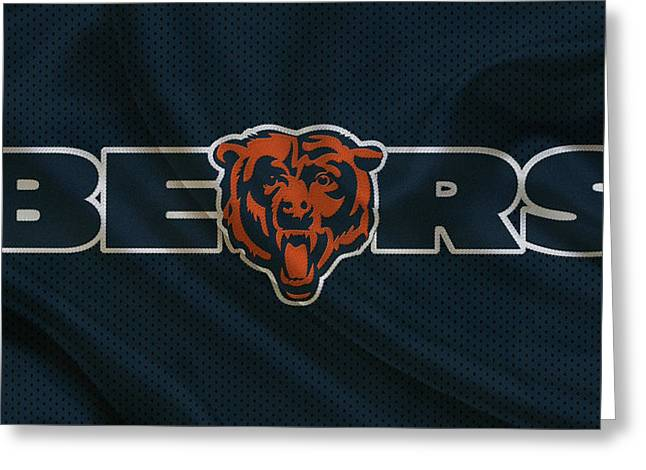 Christmas Greeting Greeting Cards - Chicago Bears Greeting Card by Joe Hamilton