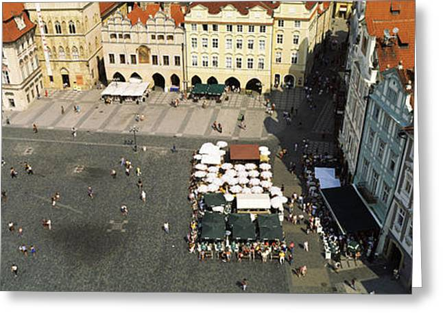 Town Square Greeting Cards - High Angle View Of Buildings In A City Greeting Card by Panoramic Images