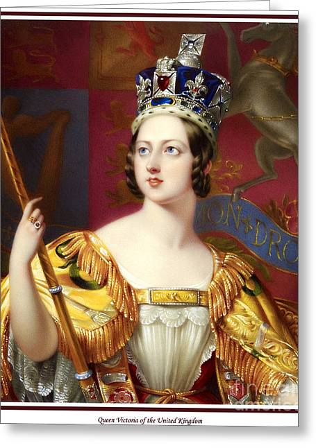 Royal Family s Paintings Greeting Cards - 34. Queen Victoria of the United Kingdom Art Print Greeting Card by Royal Portraits