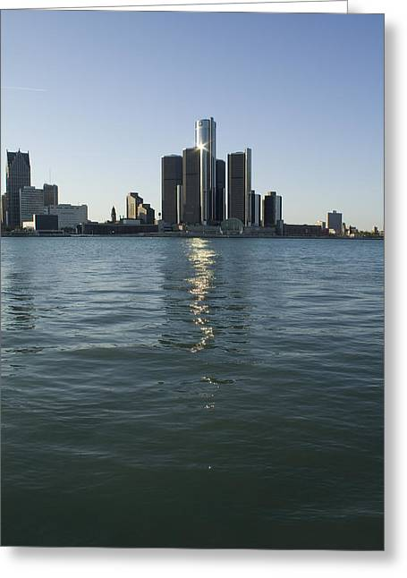 Detroit River Greeting Cards - Renaissance Center Greeting Card by Gary Marx