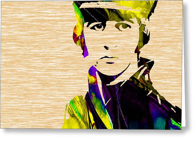 Musicians Mixed Media Greeting Cards - Ringo Starr Collection Greeting Card by Marvin Blaine