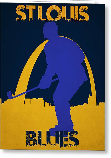 St Louis Greeting Cards - St Louis Blues Greeting Card by Joe Hamilton