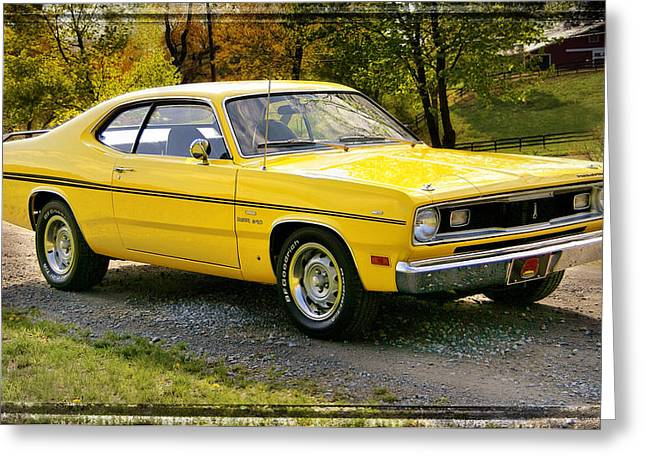 Mopar Collector Greeting Cards - 340 Duster Greeting Card by Thomas Schoeller