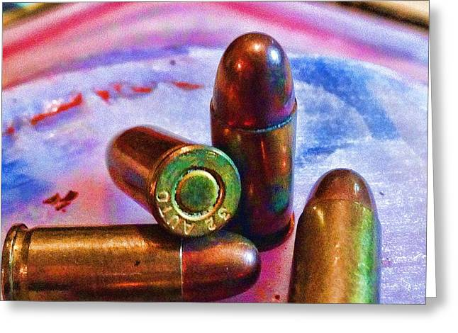 Cartridge Greeting Cards - Bullet Art Color 3415 Greeting Card by Lesa Fine