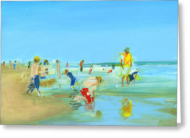 York Beach Paintings Greeting Cards - RCNpaintings.com Greeting Card by Chris N Rohrbach