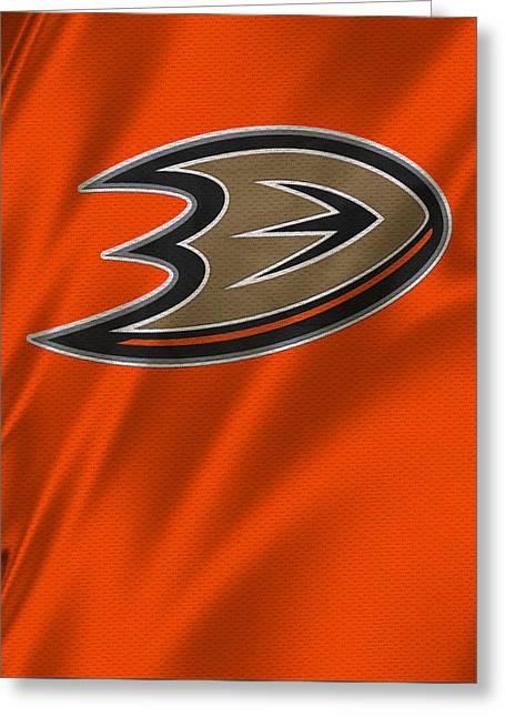 Anaheim California Greeting Cards - Anaheim Ducks Greeting Card by Joe Hamilton