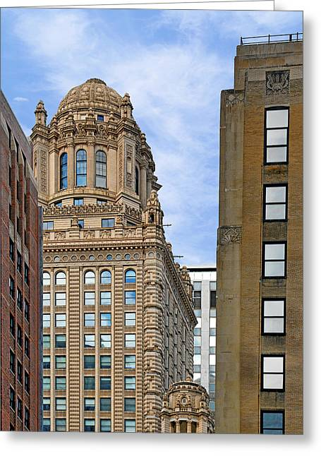 Prohibition Greeting Cards - 35 East Wacker - Jewelers Building Chicago Greeting Card by Christine Till