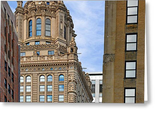 35 East Wacker - Jewelers' Building Chicago Greeting Card by Christine Till