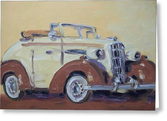 35' Oldsmobile Greeting Card by Robert Martin