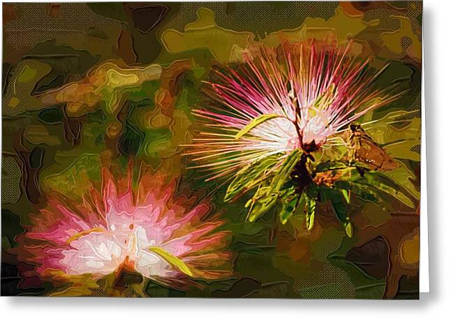 Prints Of Flowers Greeting Cards - Paintings Of Flowers Greeting Card by Victor Gladkiy