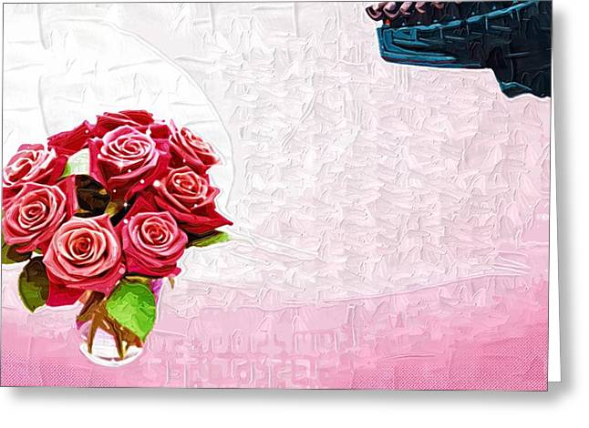Printables Greeting Cards - Printable coloring Flowers Greeting Card by Victor Gladkiy
