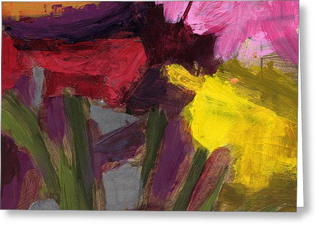 Yellow Flower Gift Greeting Cards - RCNpaintings.com Greeting Card by Chris N Rohrbach