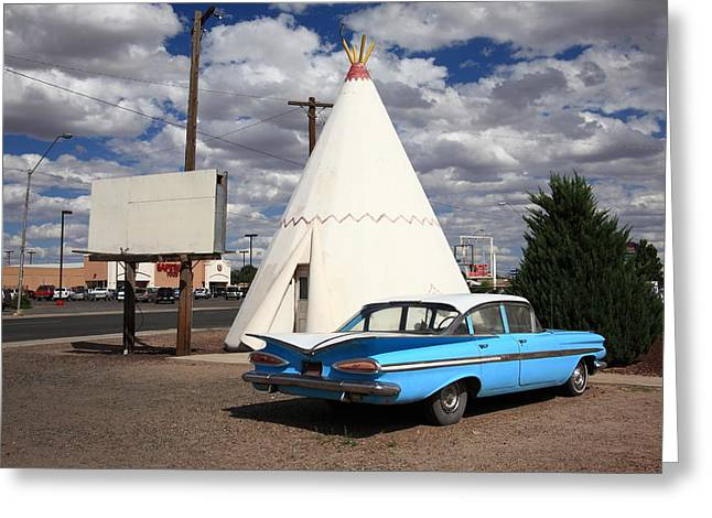 Route 66 - Wigwam Motel Greeting Card by Frank Romeo