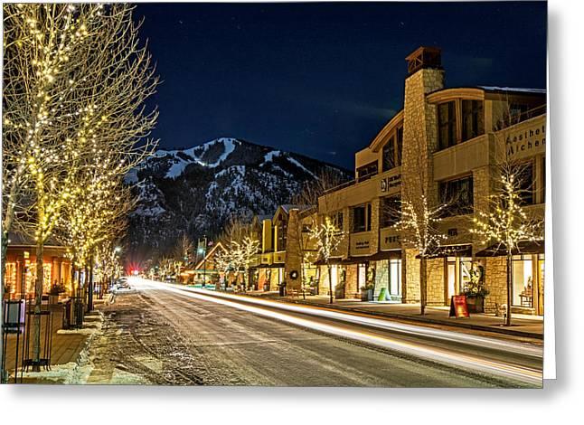 Ski Art Greeting Cards - Sun Valley Greeting Card by Elijah Weber