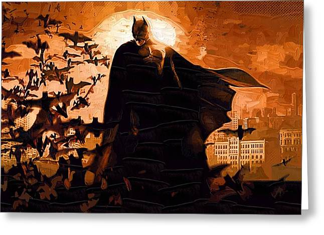 Watch Paintings Greeting Cards - The Dark Knight Rises Greeting Card by Victor Gladkiy
