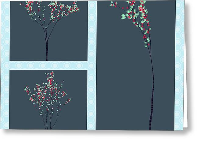 Tree Roots Greeting Cards - Trees of Life Greeting Card by Charles Dobbs