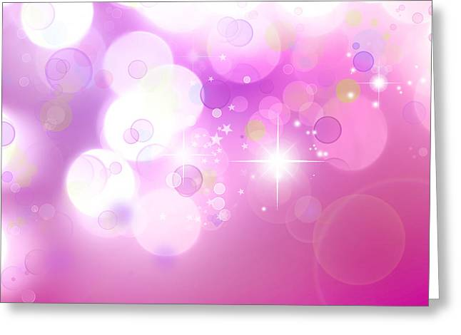 New Year Greeting Cards - Abstract background Greeting Card by Les Cunliffe