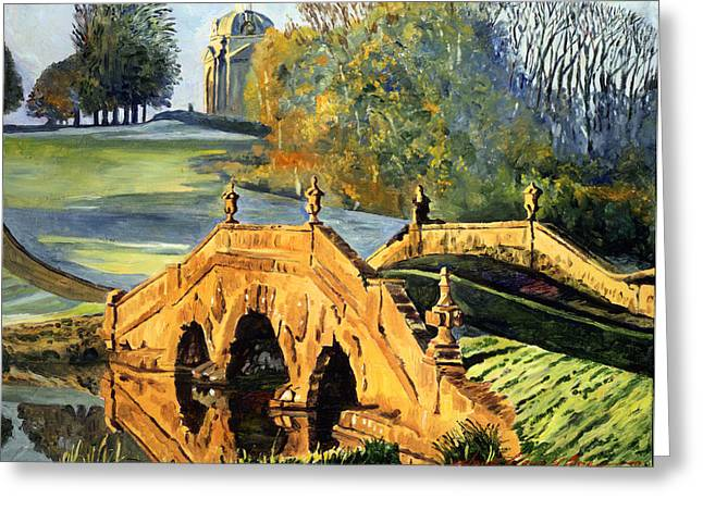 355 Ancient English Bridge Greeting Card by David Lloyd Glover