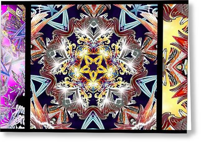 Geometric Image Greeting Cards - 356 Infinity II Greeting Card by Derek Gedney