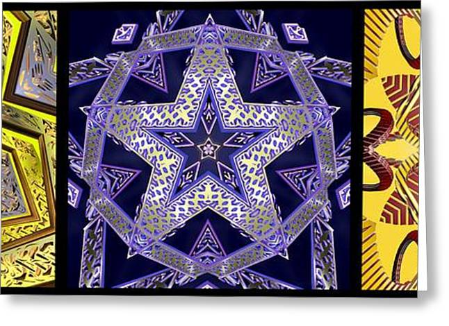 Geometric Image Greeting Cards - 356 Infinity V Greeting Card by Derek Gedney