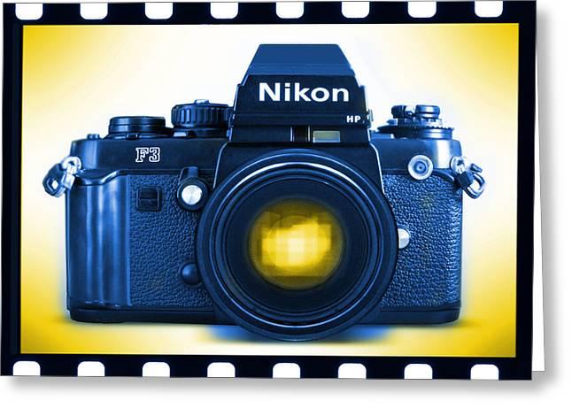 35mm BLUES Nikon F-3hp Greeting Card by Mike McGlothlen
