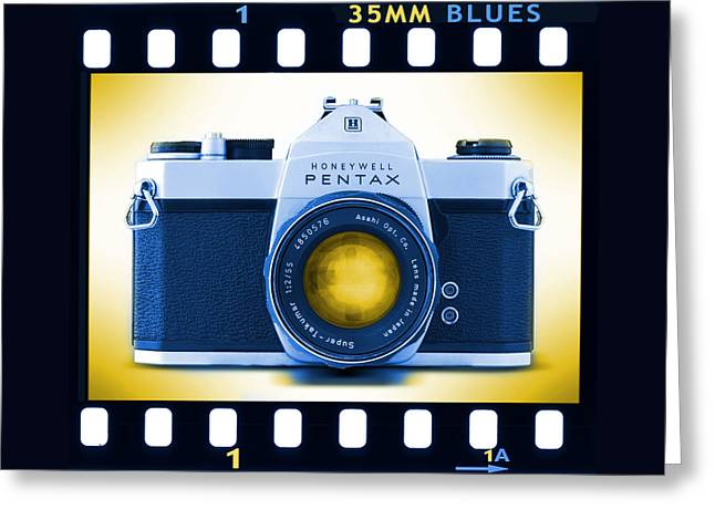 35mm Blues Pentax Spotmatic Greeting Card by Mike McGlothlen