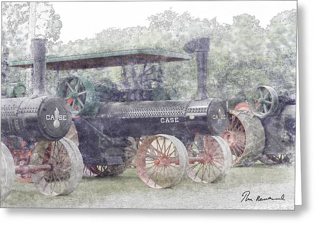Us History Pastels Greeting Cards - Antique Tractor Greeting Card by Tim Mulholland