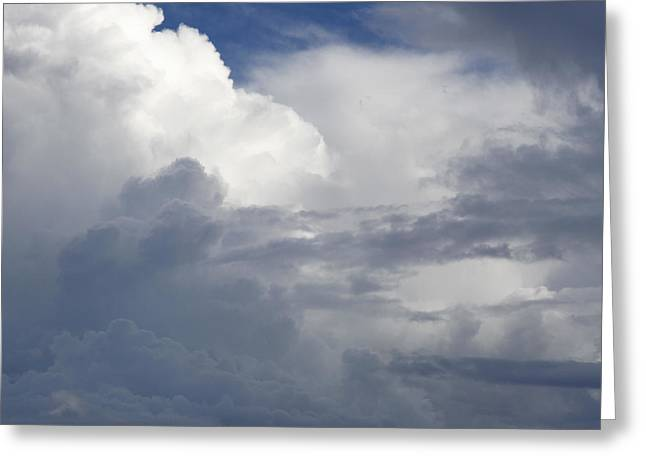 Grey Clouds Greeting Cards - Clouds Greeting Card by Les Cunliffe