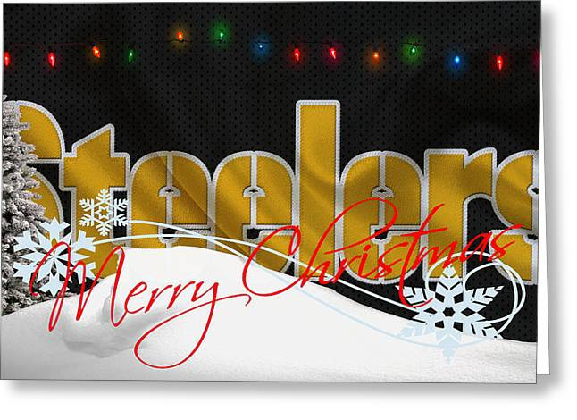 Pittsburgh Greeting Cards - Pittsburgh Steelers Greeting Card by Joe Hamilton