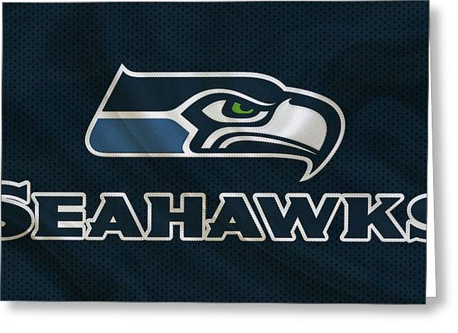 Seattle Seahawks Greeting Card by Joe Hamilton