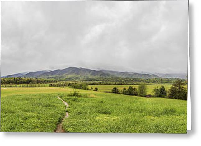 Tn Greeting Cards - 36 shot HDR panorama of Cades Cove Greeting Card by Sherri Duncan