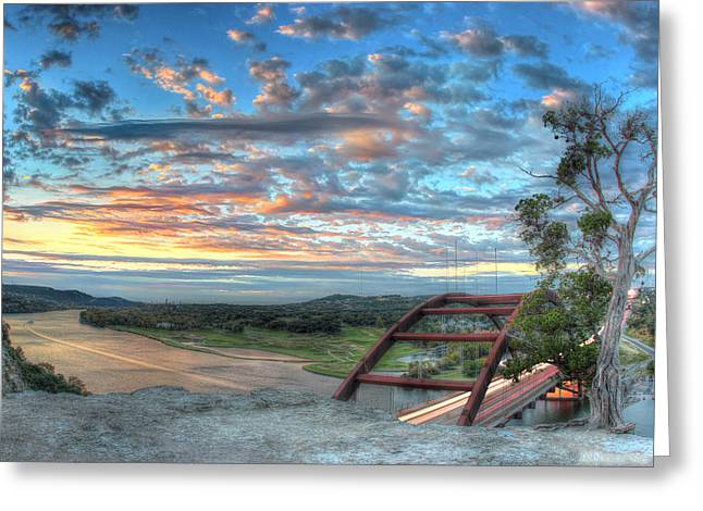 Austin 360 Greeting Cards - 360 Bridge Greeting Card by Andrew Nourse