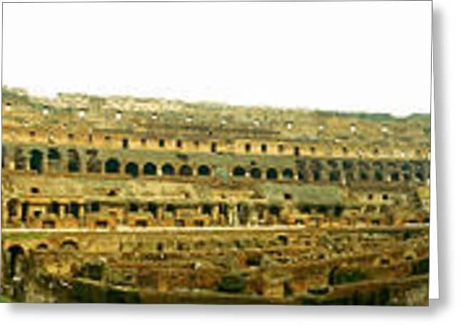 Italian Culture Greeting Cards - 360 Degree View Of An Amphitheater Greeting Card by Panoramic Images