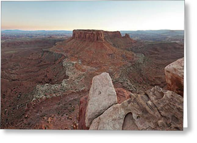 360 Degree View Of Grand View Point Greeting Card by Panoramic Images