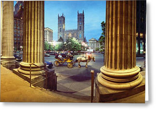 Old Montreal Greeting Cards - 360 Degree View Of The Notre Dame De Greeting Card by Panoramic Images