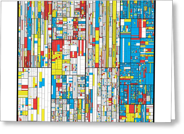 Bauhaus Greeting Cards - 3628 digits of Pi Greeting Card by Martin Krzywinski