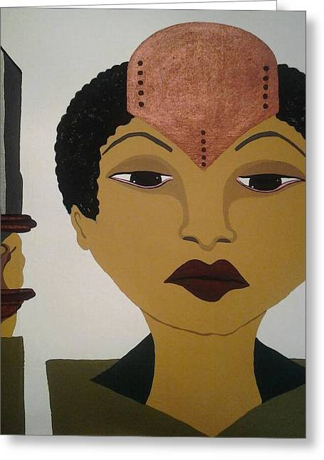 Woman Tapestries - Textiles Greeting Cards - 365 Days a Woman Warrior Woman #2 Greeting Card by Denise D Cooper