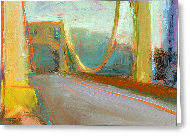 Landscape Bridge Greeting Cards - RCNpaintings.com Greeting Card by Chris N Rohrbach